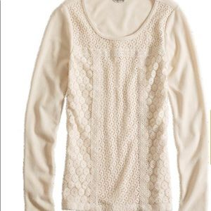 Lucky Brand Tops - Lucky Brand Lace Patched Thermal